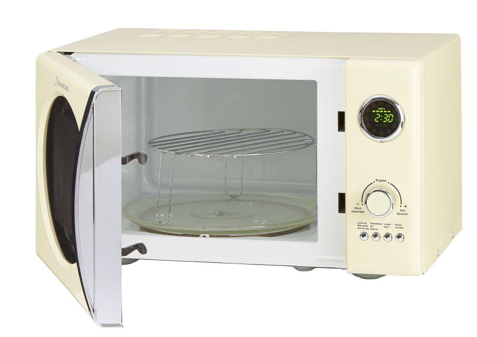retro microwave oven schaub lorenz mw823gsc creme. Black Bedroom Furniture Sets. Home Design Ideas